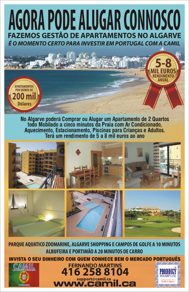 Find your dream property in Portugal. We have the best deals for canadians in apartments for rent & sale in Algarve, Portugal.
